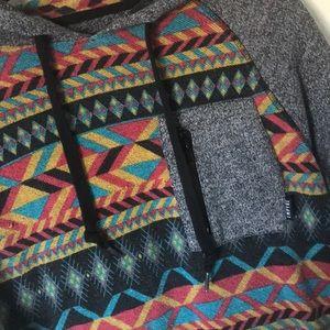 Empyre Zumiez brand multicolor Aztec style hoodie